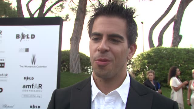 Eli Roth on his first trip to amfAR and how he's glad he's now a star at the Cannes Film Festival 2009 amfAR Red Carpet at Antibes