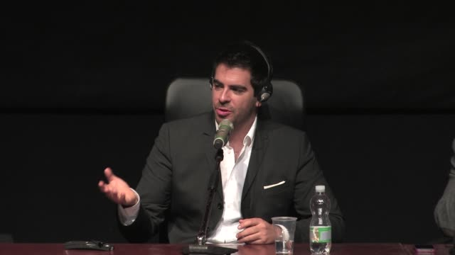 INTERVIEW Eli Roth on the differences with 'Hostel' at The Green Inferno' Press Conference on November 12 2013 in Rome Italy