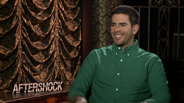 INTERVIEW Eli Roth on the film being somewhat based on true events and on the breakdown of society during a disaster at the 'Aftershock' Los Angeles...