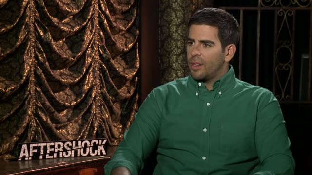 INTERVIEW Eli Roth on watching horror films when he was younger at the 'Aftershock' Los Angeles Press Junket INTERVIEW Eli Roth on watching horror...
