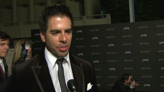 INTERIVEW Eli Roth on what he loves about LACMA why it's important to celebrate and support art and film in LA how Quentin Tarantino has impacted the...