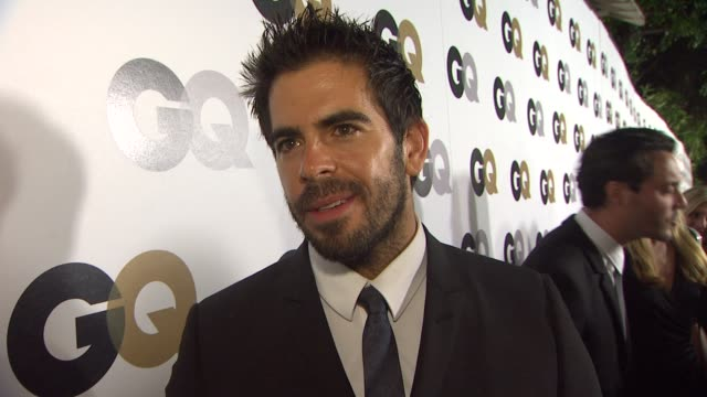 Eli Roth on why GQ's MOTY party is the party of the year what MOTY title he would give himself and what flavor of ice cream he would like to be at...