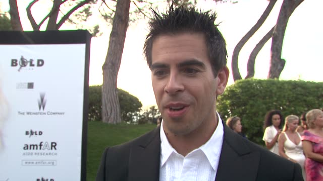 Eli Roth on why he feels strongly about AIDS research at the Cannes Film Festival 2009 amfAR Red Carpet at Antibes