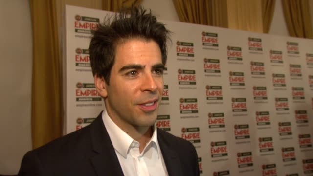 Eli Roth on winning the award on the horror movies he makes on what's next at the Jameson Empire Awards at London England