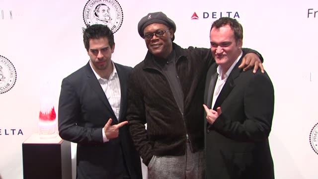 Eli Roth Samuel L Jackson and Quentin Tarantino at the Quentin Tarantino Roasting at the New York Friars Club at New York NY