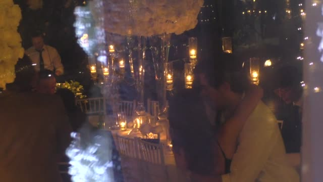 eli roth seen dancing at quentin tarantino & daniela pick's wedding reception at mr. chow in los angeles in celebrity sightings in los angeles, - celebrity sightings stock videos & royalty-free footage