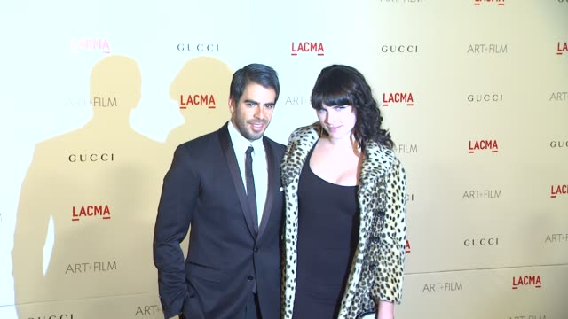 Eli Roth Victoria Asher at the LACMA Hosts Inaugural Art Film Gala Honoring Clint Eastwood And John Baldessari Presented By GUCCI at Los Angeles CA