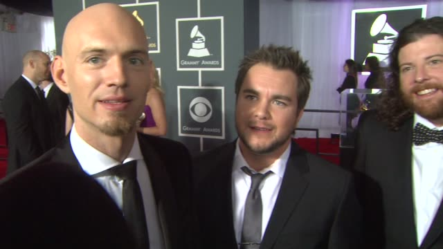 interview eli young band on being nominees and on the event at the 55th annual grammy awards arrivals interviews in los angeles ca on 2/10/13 - grammy awards stock videos and b-roll footage