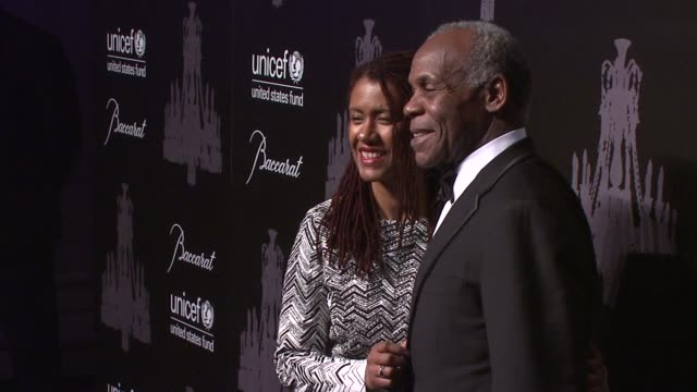 eliane cavalleiro and danny glover at the ninth annual unicef snowflake ball at cipriani, wall street on in new york city. - cipriani manhattan stock videos & royalty-free footage