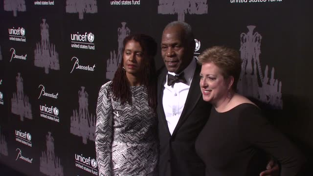 eliane cavalleiro, danny glover, and caryl stern at the ninth annual unicef snowflake ball at cipriani, wall street on in new york city. - cipriani manhattan stock videos & royalty-free footage