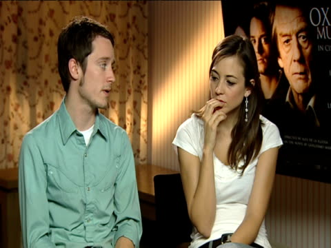 Elijah wood and Leonor Watling on the film's plot solving the murder mystery through mathematics and the different layers of the story at the 'The...