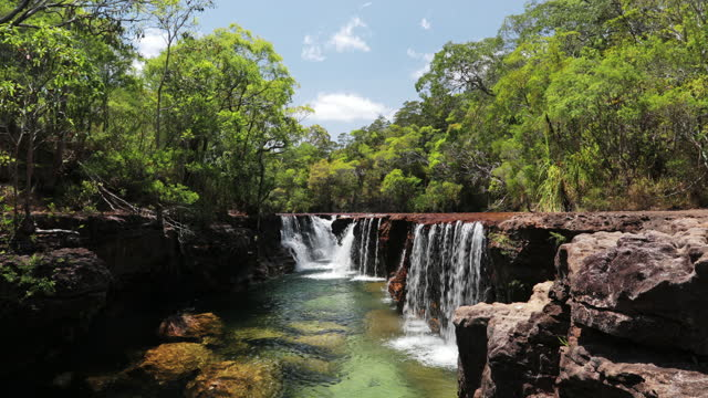 eliot falls, cape york - tropical climate stock videos & royalty-free footage