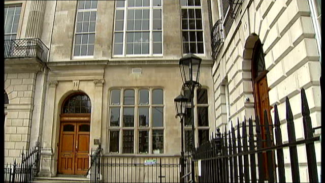 ts eliot's widow donates 25 million pounds to london library england london piccadilly ext general views the london library building - widow stock videos & royalty-free footage