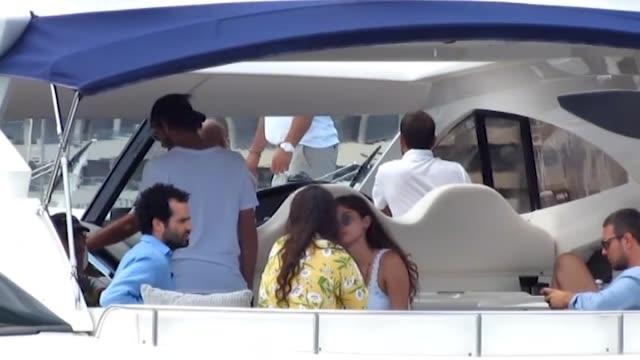Elisa Sednaoui Alex Dellal Andrea Casiraghi and Tatiana Santo Domingo are seen in Ibiza