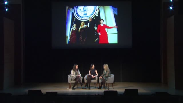 SPEECH Elisabeth Egan Barbara Pierce Bush and Jenna Bush Hager on a wardrobe malfunction on what inspired them to write a book now at Glamour's Women...