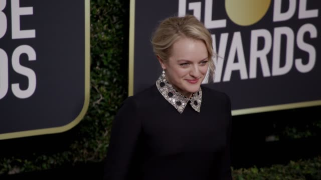 Elisabeth Moss at the 75th Annual Golden Globe Awards at The Beverly Hilton Hotel on January 07 2018 in Beverly Hills California
