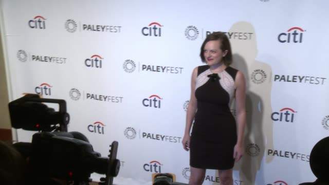 elisabeth moss at the mad men panel paleyfest 2014 at dolby theatre on march 21 2014 in hollywood california - the dolby theatre stock videos & royalty-free footage