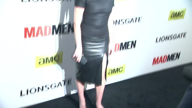 elisabeth moss at the mad men season seven los angeles premiere at arclight cinemas on april 02 2014 in hollywood california - arclight cinemas hollywood stock videos & royalty-free footage