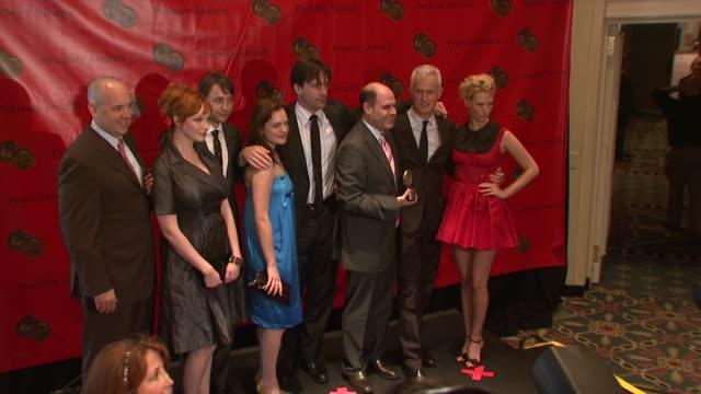 elisabeth moss, january jones, christina hendricks at the 67th annual peabody awards at new york ny. - ジャニュアリー・ジョーンズ点の映像素材/bロール