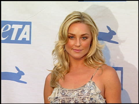 elisabeth rohm at the peta's 25th anniversary gala and humanitarian awards show at paramount studios in hollywood california on september 10 2005 - paramount studios stock videos and b-roll footage