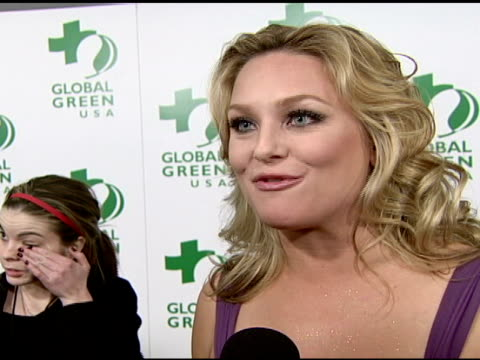 elisabeth rohm on attending tonight's at the global green usa's 5th annual preoscar party at null in hollywood california on february 20 2008 - pre party stock videos and b-roll footage