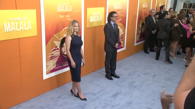 "elisabeth shue at ""he named me malala"" new york premiere at ziegfeld theatre on september 24, 2015 in new york city. - elisabeth shue stock videos & royalty-free footage"