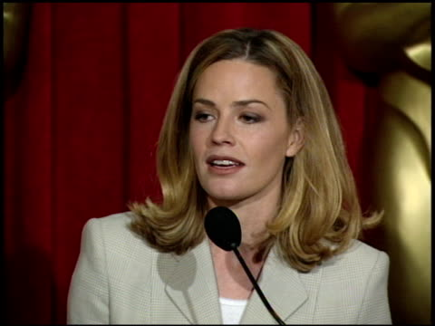 elisabeth shue at the 1996 academy awards luncheon at the beverly hilton in beverly hills, california on march 12, 1996. - elisabeth shue stock videos & royalty-free footage
