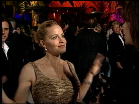 elisabeth shue at the 1998 academy awards vanity fair party at morton's in west hollywood, california on march 23, 1998. - elisabeth shue stock videos & royalty-free footage