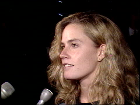 elisabeth shue at the 'back to the future 2' premiere at universal studios in universal city, california on november 20, 1989. - elisabeth shue stock videos & royalty-free footage