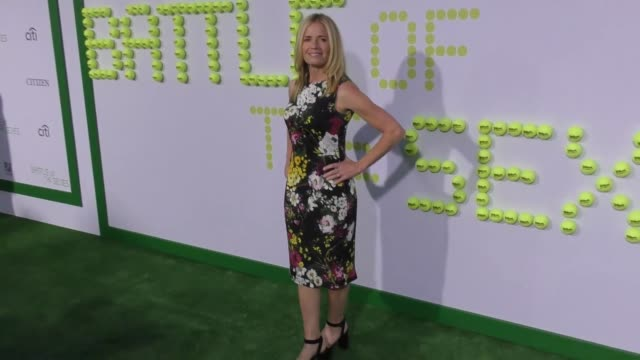 "elisabeth shue at the ""battle of the sexes"" los angeles premiere presented by fox searchlight at regency village theatre on september 16, 2017 in... - elisabeth shue stock videos & royalty-free footage"