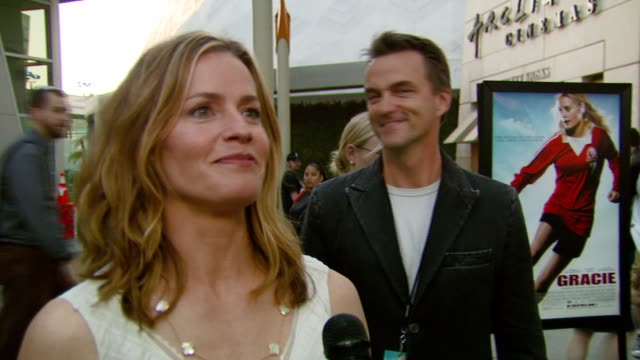 elisabeth shue on making the film, working with family, and what the film's about at the 'gracie' premiere at arclight hollywood in hollywood,... - elisabeth shue stock videos & royalty-free footage