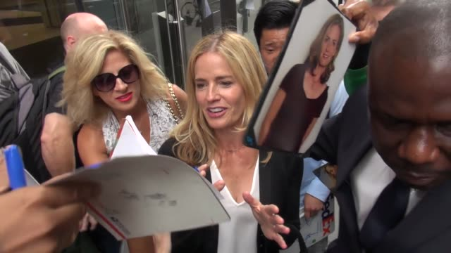 elisabeth shue outside siriusxm satellite radio in new york in celebrity sightings in new york, - elisabeth shue stock videos & royalty-free footage