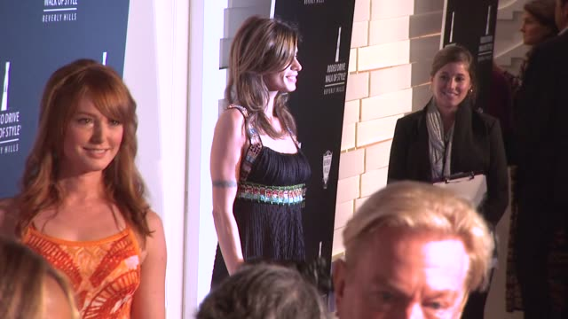 elisabetta canalis at the iman and missoni honored with rodeo drive walk of style at beverly hills ca - missoni stock videos & royalty-free footage
