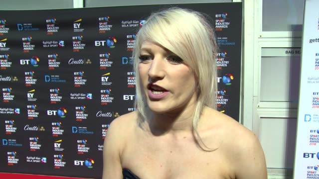 Elise Christie on new found fame training and future plans at Battersea Evolution on April 26 2018 in London England