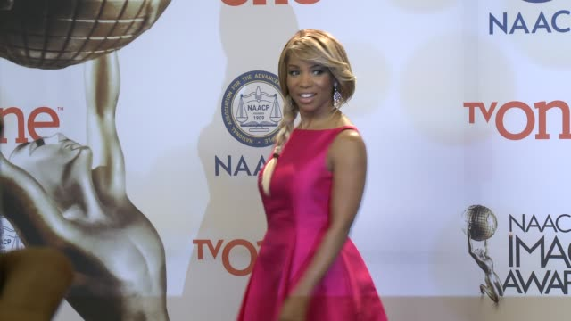 vidéos et rushes de elise neal at the 46th annual naacp image awards press room at pasadena civic auditorium on february 06 2015 in pasadena california - pasadena civic auditorium