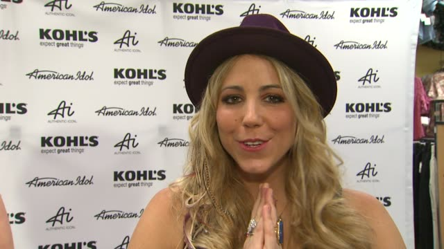 elise testone on kohl's 50th birthday why she is here and fashion inspirations at american idol season 11 contestants appear at los angeles kohl's... - american idol stock videos and b-roll footage