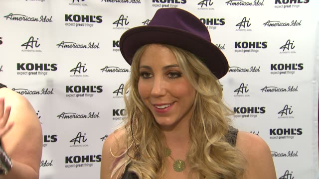 elise testone on the upcoming tour preshow rituals and best idol moment at american idol season 11 contestants appear at los angeles kohl's for... - american idol stock videos and b-roll footage