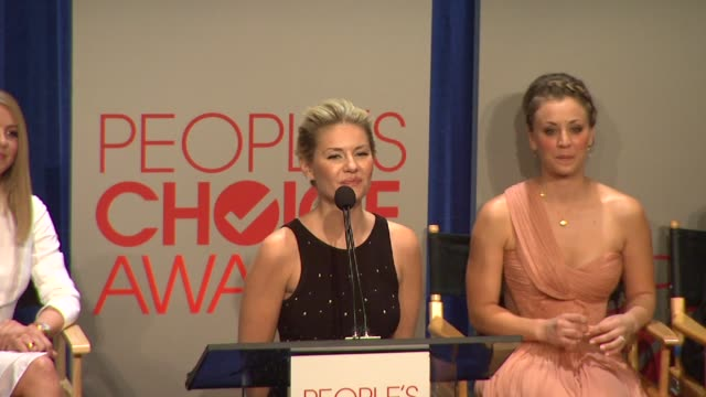 elisha cuthbert at the people's choice awards 2012 nominations press conference - people's choice awards stock videos & royalty-free footage