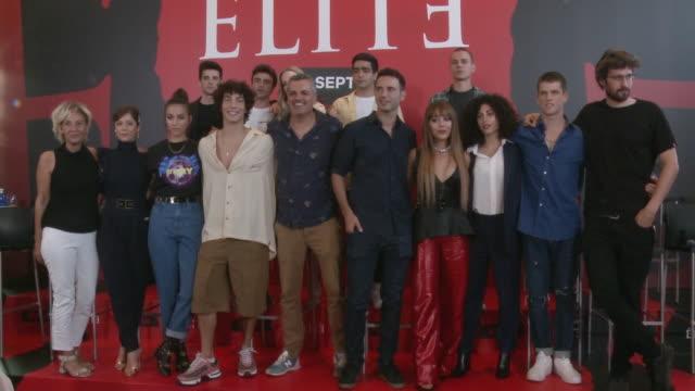 elite madrid photocall - netflix stock videos & royalty-free footage