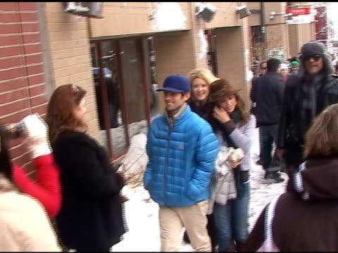 Eliza Dushku and Rick Fox on Main Street at the Sundance Film Festival at the Celebrity Sightings in Park City Utah at Park City UT