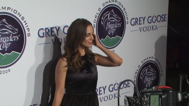 eliza dushku at the breeders' cup winners circle sponsored by grey goose vodka at los angeles ca - grey goose vodka stock videos & royalty-free footage