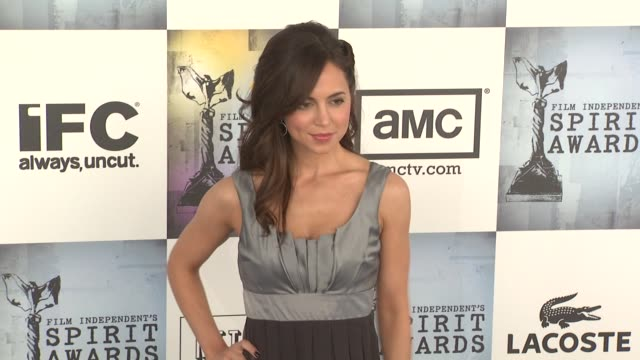 eliza dushku at the film independent's 2009 spirit awards arrivals part 4 at los angeles ca. - independent feature project stock videos & royalty-free footage
