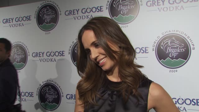 eliza dushku on if she's a fan of horse racing how she feels about supporting espn's v foundation what's next for her character on dollhouse on... - dollhouse stock videos & royalty-free footage