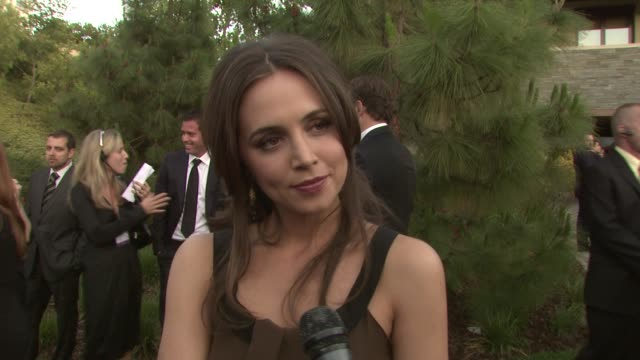 eliza dushku on the event homelessness at the 7th annual chrysalis butterfly ball at los angeles california - chrysalis butterfly ball video stock e b–roll