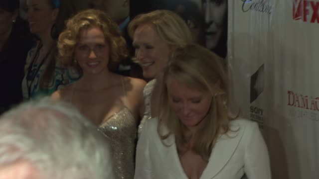 Eliza Shaw Glenn Close and Annie Maude Starke at the 'Damages' Premiere at the Regal Theater in New York New York on July 19 2007