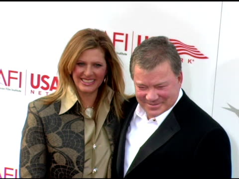 elizabeth anderson martin and william shatner at the 33rd afi life achievement award 'a tribute to george lucas' at the kodak theatre in hollywood... - elizabeth shatner stock videos & royalty-free footage