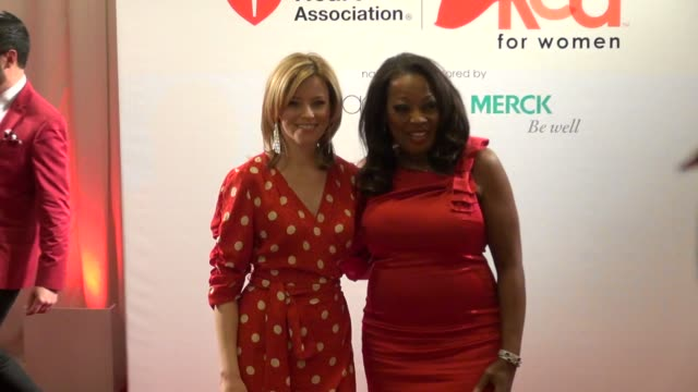 Elizabeth Banks and Star Jones at the American Heart Association's 'Go Red for Women' Luncheon in New York on 2/3/2012