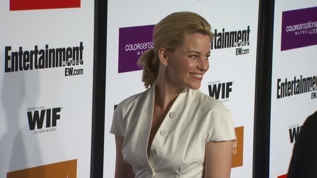 elizabeth banks at the entertainment weekly - women in film pre-emmy party at west hollywood ca. - pre emmy party stock videos & royalty-free footage