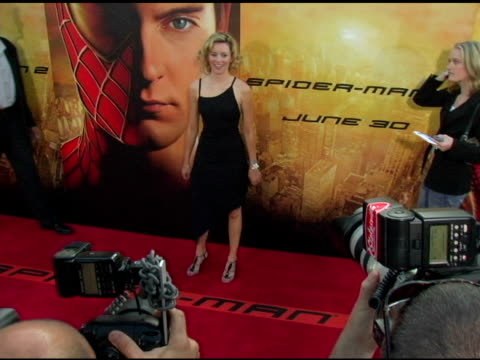 elizabeth banks at the 'spider-man 2' los angeles premiere arrivals at the mann village theatre in westwood, california on june 22, 2004. - house spider stock videos & royalty-free footage