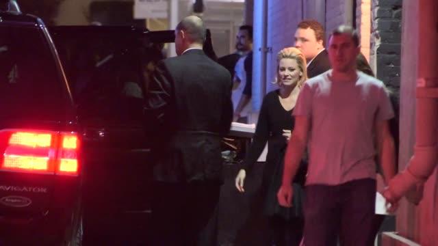elizabeth banks departing jimmy kimmel studio in hollywood celebrity sightings in los angeles ca on 11/19/13 - jimmy kimmel stock videos and b-roll footage
